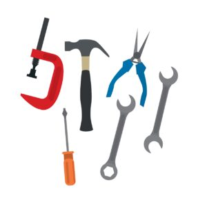 tools, spanners, hammers